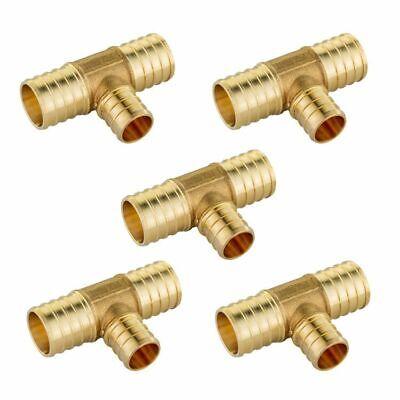 "1/"" x 3//4/"" x 3//4/"" PEX Tees LEAD-FREE 10 Brass Crimp Fittings"