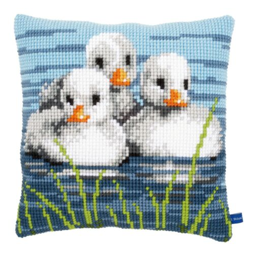 Vervaco Cross Stitch Cushion Kit PN-0155206 Ducklings in the Water
