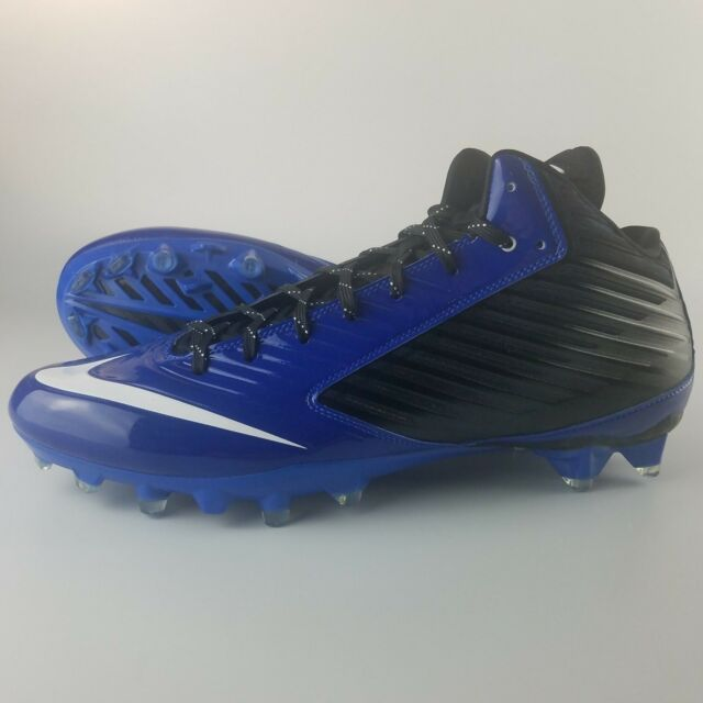 new product 6a868 1370c Nike Vapor Speed TD 3 4 Mid Football Cleats Men s Size 14 Black Blue White  for sale online   eBay