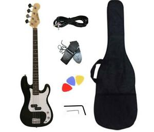 Christmas Gift ! Bass Guitar for Beginners Black PB871 with Accessories all Brand New items Canada Preview