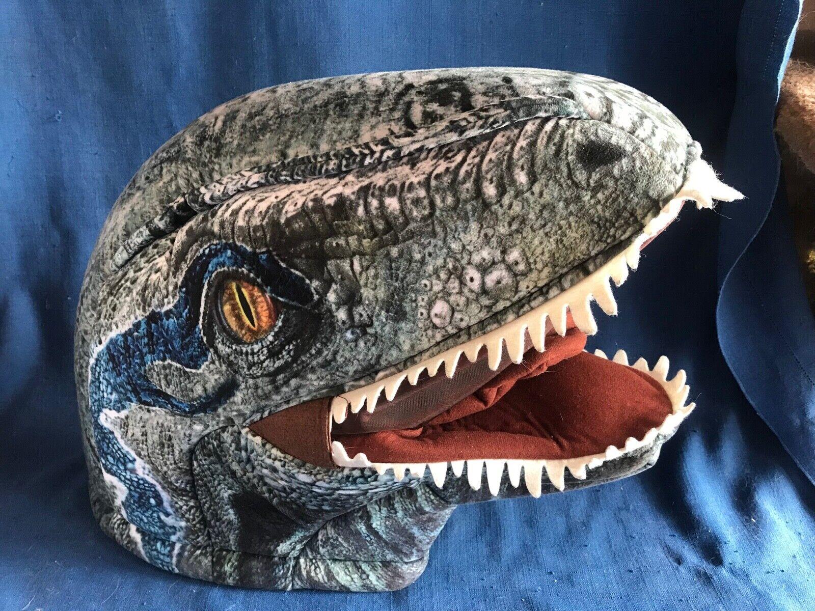 Jurassic World Velociraptor bleu plein Overhead Dinosaure en Mousse Masque maskimal Épuisé