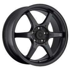 18X8 KONIG BACKBONE 5X114.3 +45 Matte Black Wheels Fits Tuburon Mazda 3 Eclipse