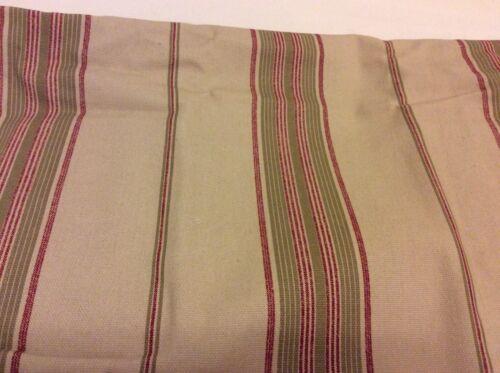 matches quilt B Smith Diantha Euro Shams Khaki Red Green Striped Cotton Set 2