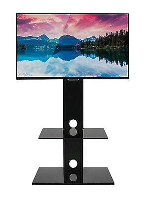 Mountright MK001 Glass Cantilever Swivel TV Stand  For 27 To 55 inch screens
