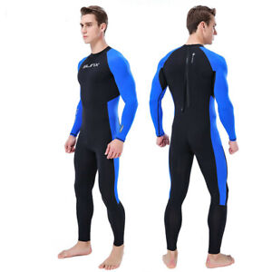 21dea03ff5 Details about MEN WetSuit Full Body suit Super stretch Diving Suit Swim  Surf Snorkeling LB