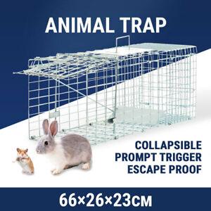 Large Humane Animal Cage Trap Catch Possum Rabbit Cat Rat Hare Bait Safe Live