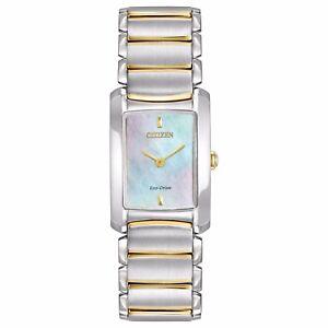Citizen-Eco-Drive-Euphoria-Women-039-s-EG2974-52D-Refurbished-Two-Tone-20mm-Watch