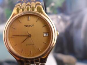 Classic-Collection-Femmes-Tissot-styliste-Or-Plaque-Montre-a-quartz-36-mm