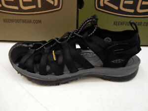 b960a451dd3c Image is loading KEEN-WOMENS-SANDALS-WHISPER-BLACK-MAGNET-SIZE-9