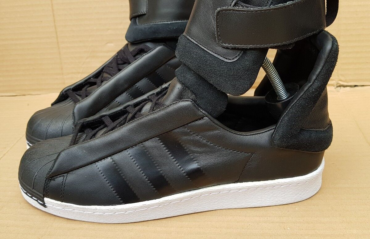 c999ceed6d82a ... NEW ADIDAS SUPERSTAR 80 s DETACHABLE DETACHABLE DETACHABLE SHIN GUARD  TRAINERS BLACK RARE SIZE 8 UK 3a165e ...