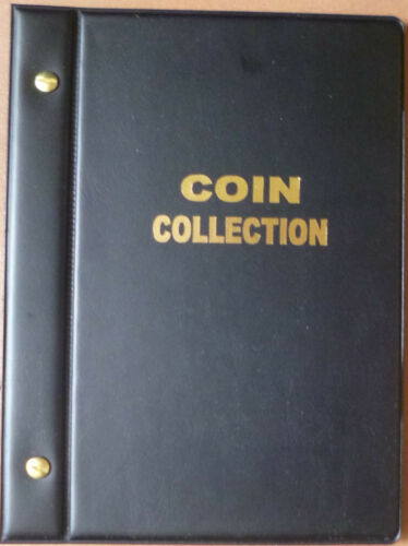 Small COIN ALBUM STOCK ALBUM BLACK COLOUR with 6 PAGES holds 118 COINS