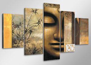Merveilleux ... Tableau Moderne Contemporain Bouddha 5 Partie Image Sur