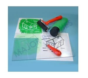 2-CLEAR-TRANSPARENT-EASY-CARVE-LINO-BLOCK-SOFT-TILE-PRINTING-BOARDS-20cm-x-15cm