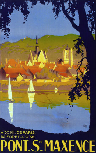 6295.Point Saint Maxence close to paris.Travel POSTER.French Wall Art Decorative