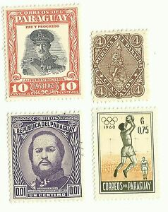 Paraguay-postage-stamps-x-4