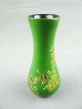 Legno bellissimi VASO verde con uccellino