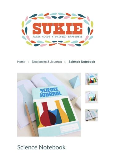 Sukie Science Journal 100% Recycled Paper