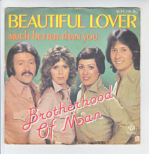 "BROTHERHOOD OF MAN Vinyl 45T 7"" BEAUTIFUL LOVER - MUCH BETTER -PYE 138 F Rèduit"