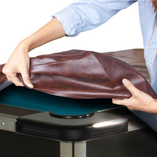8 ft Foot Heavy Duty Fitted Leatherette Billiard Pool Table Cover Burgundy