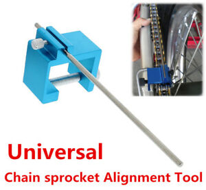 Motorcycle ATV Chain Sprocket Alignment Tools For Rear Sprocket Axle Adjustment
