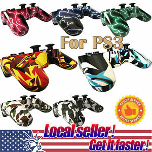 US SHIP 2x Wireless Bluetooth Game Controller Pad For Sony PS3 Playstation 3 dis