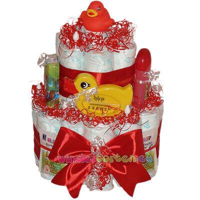 """★ Windeltorte Ente """"Sisi""""★ super Geschenk zur Geburt Taufe Babyparty Badeente"""