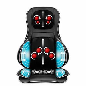 Back-Neck-Shoulder-Waist-Hips-Massage-Seat-Chair-Cushion-w-3D-Heat-amp-Vibration
