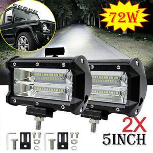 2X-72W-LED-LUCE-FARO-LAMPADA-DA-LAVORO-FARETTO-AUTO-BARCA-CAMION-KLW-SUV-12V-24V