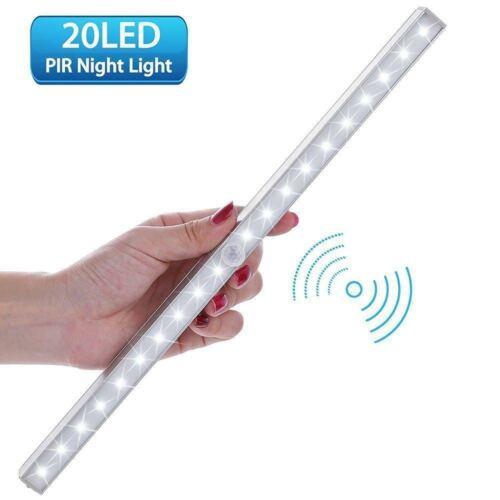 1x Unterbau Leuchte Licht Leiste Küche Schrank LED Bewegungsmelder Ohne Batterie