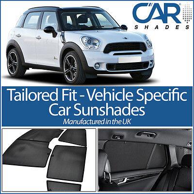Mini Countryman 2010-16 UV CAR SHADE WINDOW SUN BLINDS PRIVACY GLASS TINT BLACK