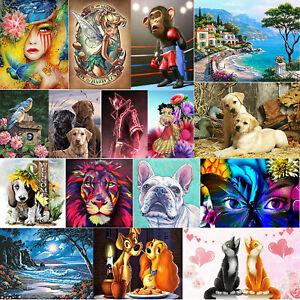 Animal-5D-DIY-Full-Drill-Diamond-Painting-Cross-Stitch-Embroidery-Kit-Art-Decor