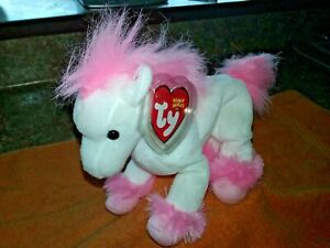 """TY  BEANIE BABY 2004 """" AVALON """" THE PINK HORSE (MINT WITH MINT TAGS) RETIRED"""
