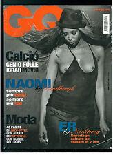 GQ ITALIA 77 FEBBRAIO 2006 NAOMI CAMPBELL ZLATAN IBRAHIMOVIC ROBBIE WILLIAMS