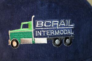 BC Rail Intermodal Canada Corduroy Hat Cap Snapback Truck Railway M/L