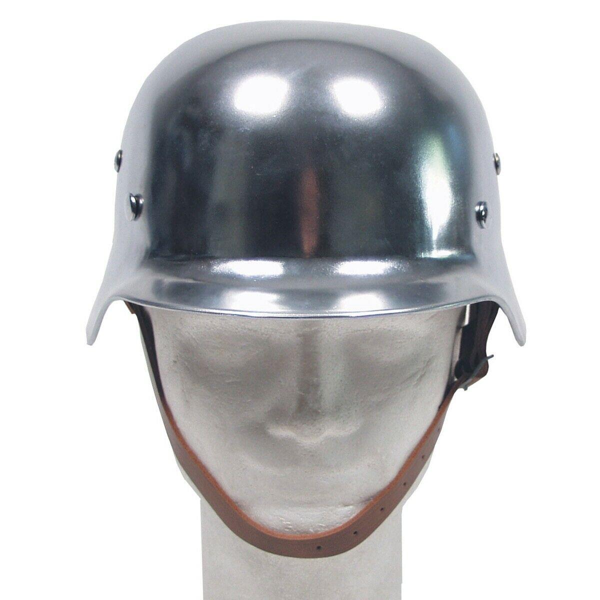 MFH casco de acero  WW II con cuero-parte interior  sin mínimo