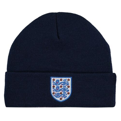 Angleterre Football Cuff Knit Beanie Navy Junior