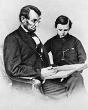 """New 5x7 Photo or /""""Tad/"""" 1864 President Abraham Lincoln with his son Thomas"""