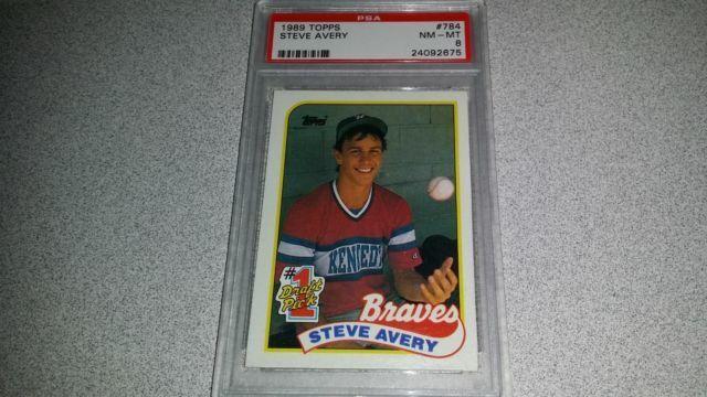 1989 Topps Steve Avery Atlanta Braves 784 Baseball Card For Sale Online Ebay