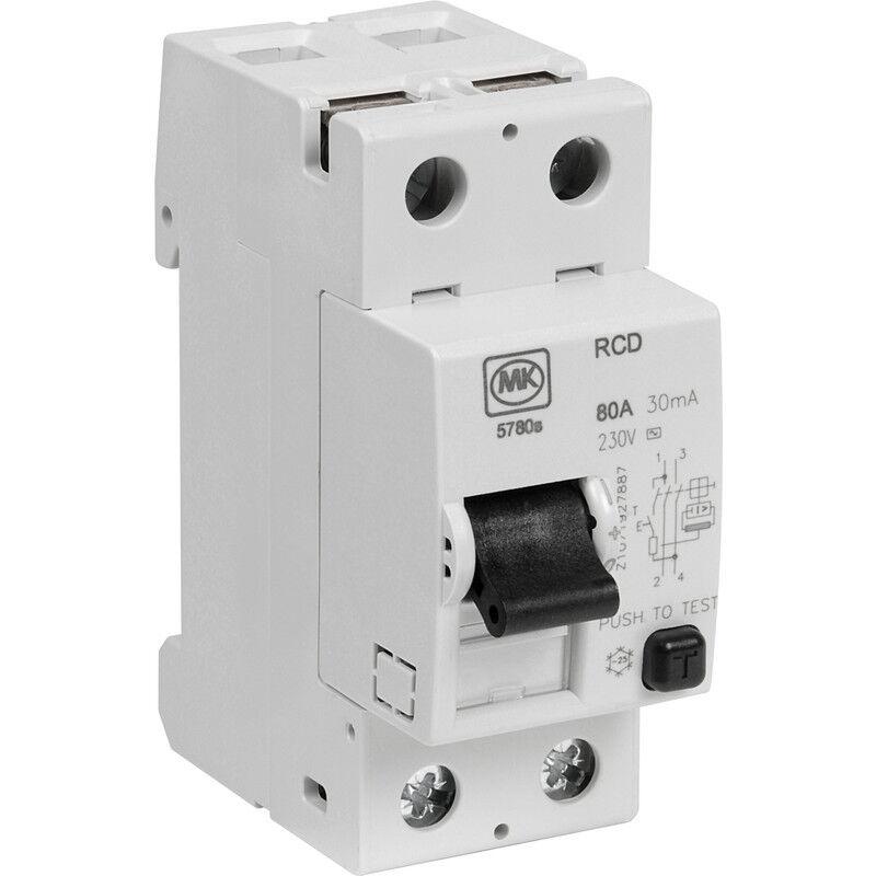 Nuevo Mk incomers 80A 30mA RCD Hazlo Hazlo Hazlo tú mismo medidor eléctrico c225c8