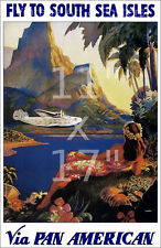 Pan Am Vintage Airline Travel Poster 11x17 inches South America #1