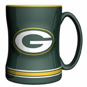 Green-Bay-Packers-Mug-Sculpted-Relief-Coffee-Mug-14oz