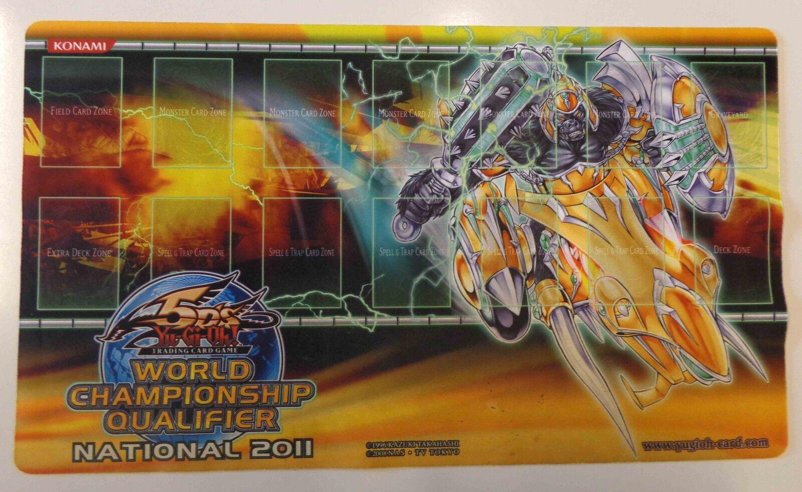Yu Gi Oh TAPPETINO KONAMI Playmat WORLD C.Q. 2011 Gladiatore Bestia ESSEDARII