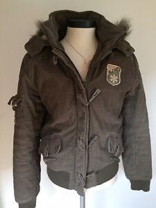 finest selection 19040 d3799 Details zu Winter -Jacke Winterjacke Fell Kapuze Parka Cord Khaki ✅Gr.  38/40 ✅top
