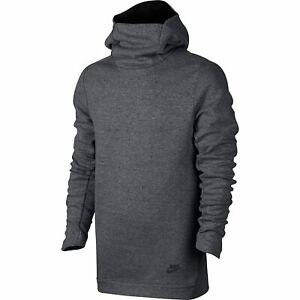 Nike-NSW-Tech-Fleece-Funnel-Hoodie-Crew-Sweater-Grau-New-80214-091-S