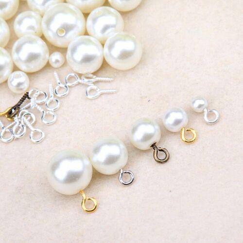 300Pcs Mini Screw Eye Pins for Jewelry Making Pearl Beads Screw Threaded Hooks