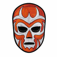 Luchador Lucha Libre Orange Pro Wrestling Embroidered Patch Iron Sew On Diy Punk