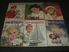 1947-1949 GOOD HOUSEKEEPING MAGAZINE LOT OF 9 ISSUES - NICE COVERS & ADS- O 2435