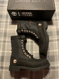 black pink timberland boots