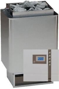 Horno de Sauna SET 34A 7,5 KW + Control Econ D1 EOS + piedra Hecho en alemania