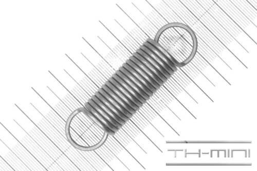 Außen Ø: 18mm Zugfeder Drahtstärke: 2mm Edelstahl Einhängelänge: 64,4mm